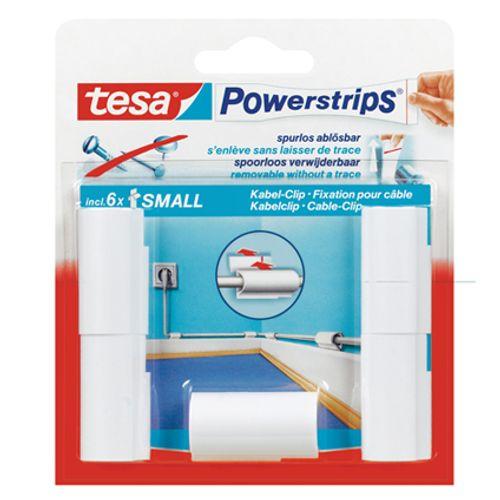 Tesa zelfklevende kabelclip 'Powerstrips' 58035-16-01