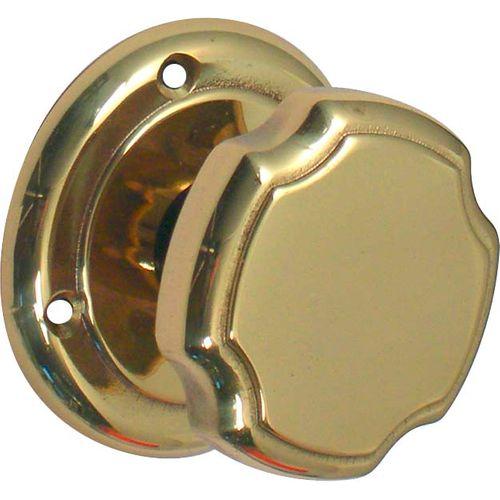Bouton de porte Linea Bertomani 294 en laiton poli