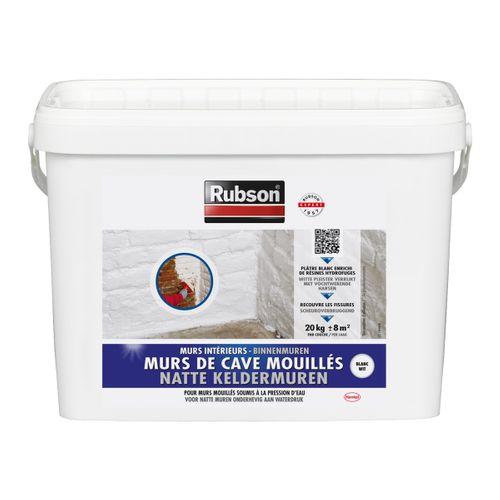 Produit de protection murs de cave mouillés Rubson blanc 20 kg