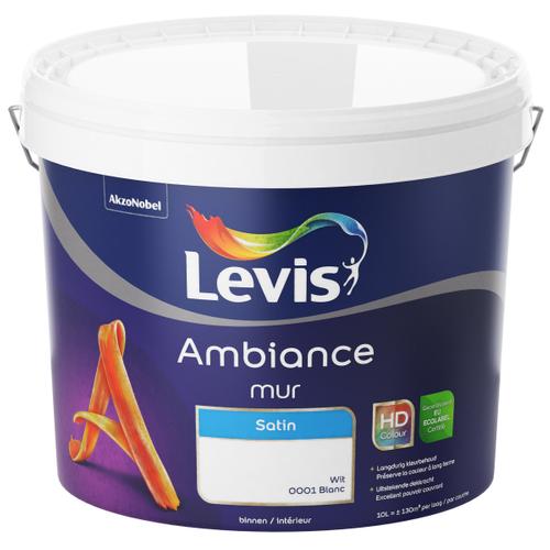 Levis muurverf 'Ambiance' wit satijn 10L