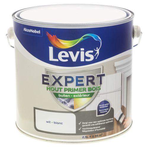 Primer laque extérieur Levis 'Expert' blanc 2,5 L