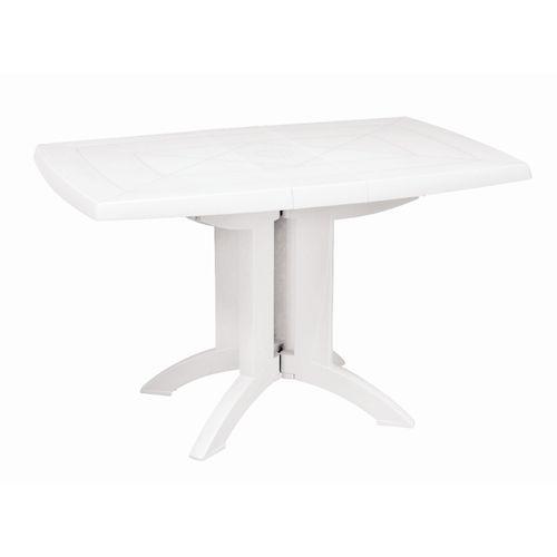 Grosfillex tuintafel Vega PVC 118cm klapbaar wit