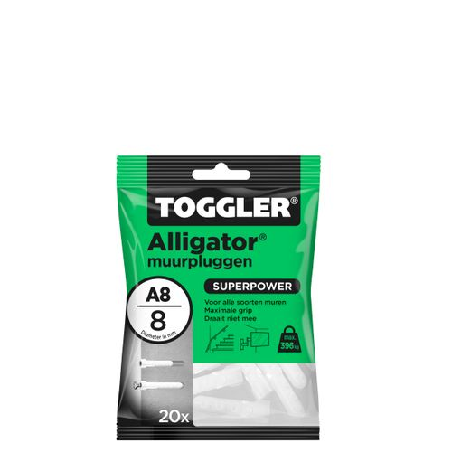 Toggler Alligator muurplug A8 Ø8mm 20st.