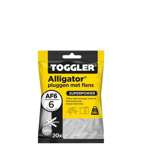 Toggler Alligator plug + flens AF6 Ø6mm wanddikte >9,5mm 20st.