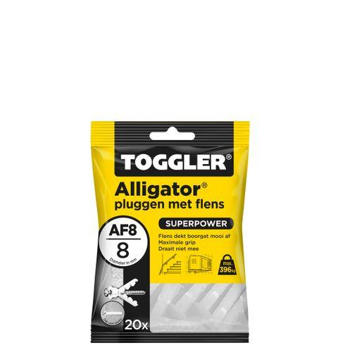 Toggler Alligator plug + flens AF8 Ø8mm wanddikte >12,5mm 20st.