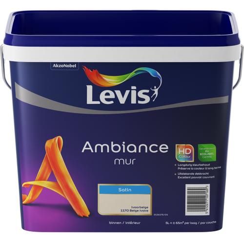 Levis muurverf 'Ambiance' ivoor beige satijn 5L