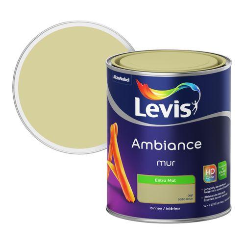 Peinture murale Levis Ambiance Mur olive extra mat 1L