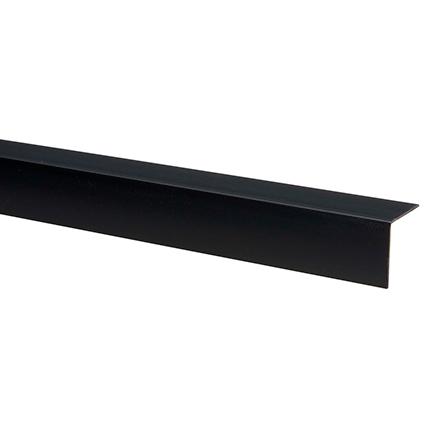 Hoekprofiel kunststof 25 x 25mm zwart 260cm