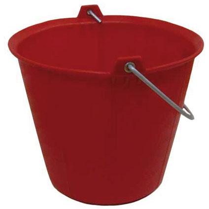 Seau de maçon Varas rouge 13 L