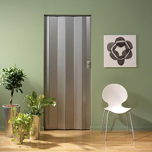 Porte accordéon Grosfillex 'Spacy' PVC aluminium 205x84cm
