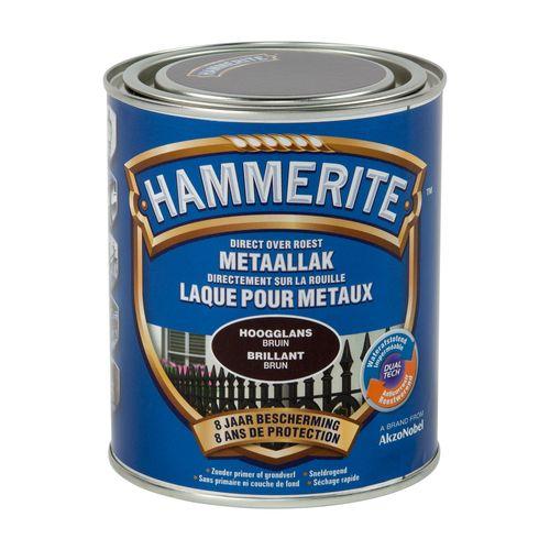 Laque métaux Hammerite brillant brun foncé 750ml