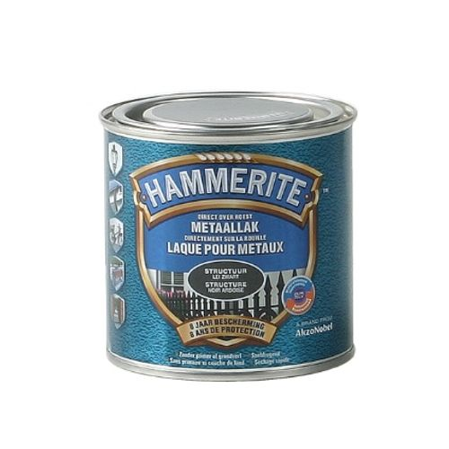 Laque métaux Hammerite structuré mate noir ardoise 250ml