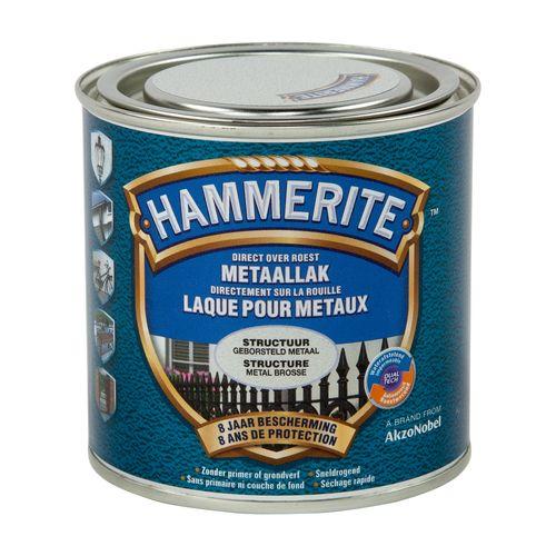 Laque métaux Hammerite structuré mate métal brossé 250ml