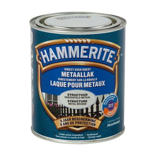 Laque métaux Hammerite structuré mate métal brossé 750ml