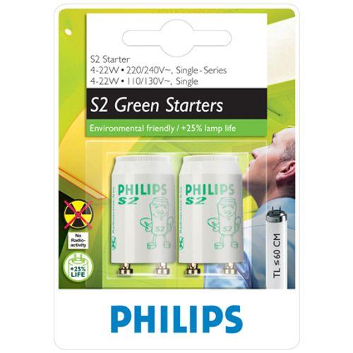Philips TL-starter EcoClick S2 4 - 22W 2 stuks