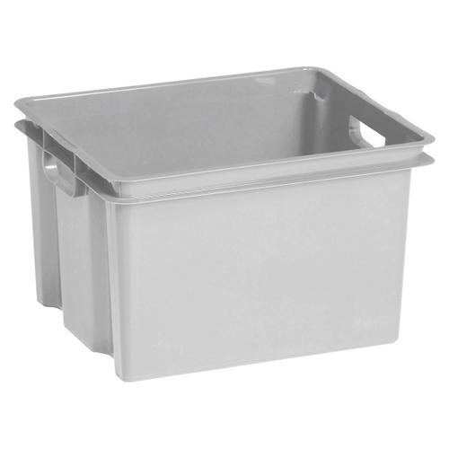 Boite de rangement Keter Crownest 30L PVC gris clair