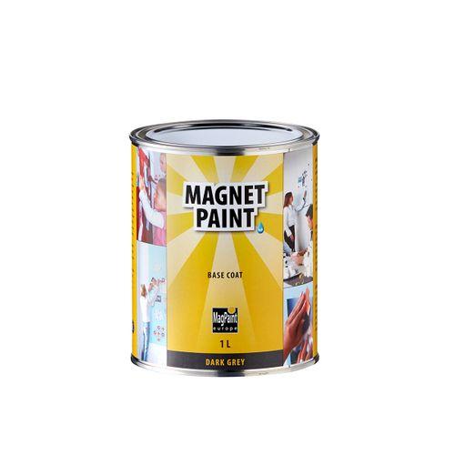 Peinture magnétique Magpaint Magnet paint Base Coat gris foncé 1L