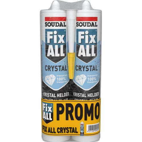 Soudal lijmkit Fix All Crystal stuks