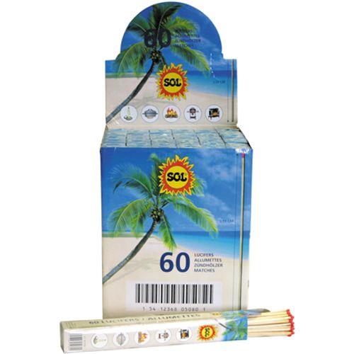Sol lucifers 30cm – 60 stuks