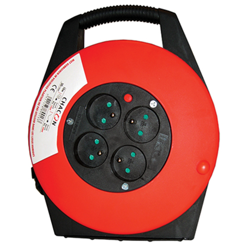 Enrouleur de câble Chacon 'H05VV-F 3G1,5' 10 m