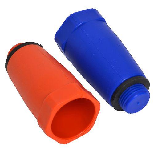 """Sanivesk bouwstop Rood + Blauw 1/2""""M kunststof"""