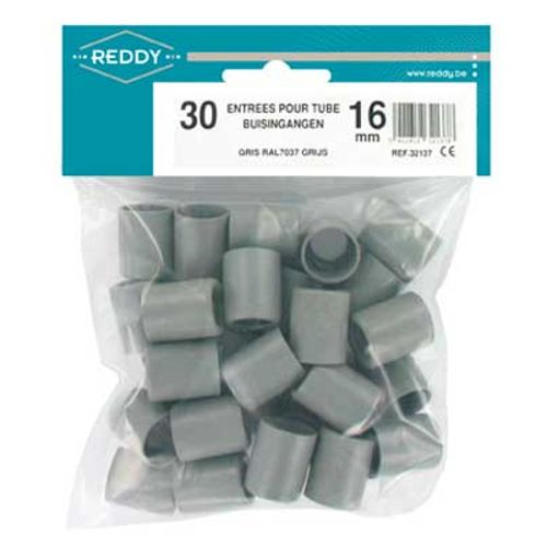 Embouts de protection Reddy 16mm gris - 30pcs