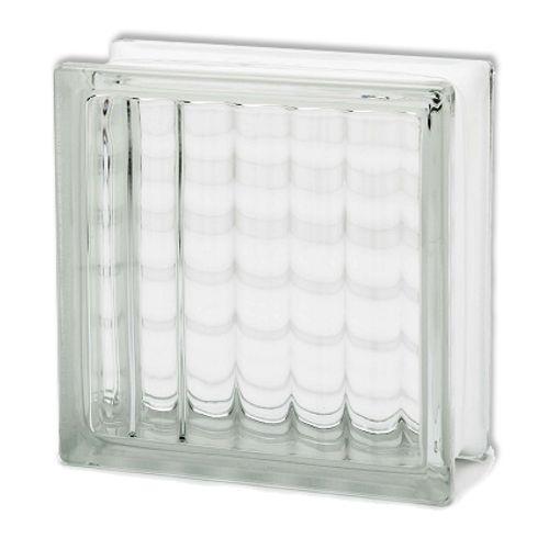 Brique de verre Vitrablok croisé large 19 x 19 x 8 cm