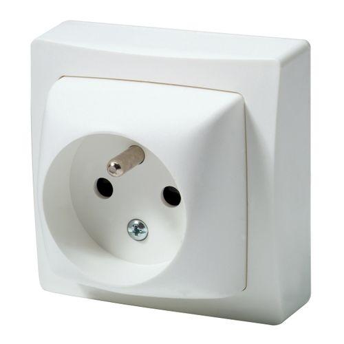 LEGRAND Oteo stopcontact met aardpen wit
