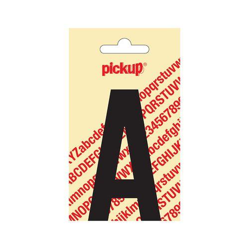 Pickup plakletter A zwart mat 90 mm