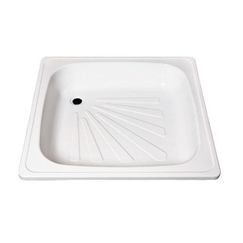 Calodar vierkante douchebak 90x90x16cm plaatstaal wit
