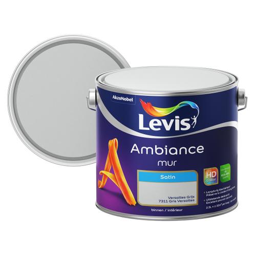 Levis muurverf 'Ambiance' versailles grijs satijn 2,5L