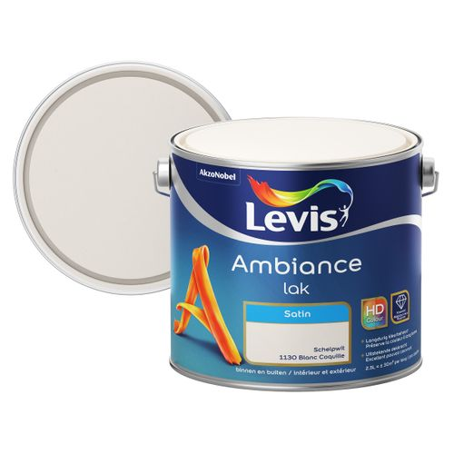 Laque Levis Ambiance blanc coquille satin 2,5L