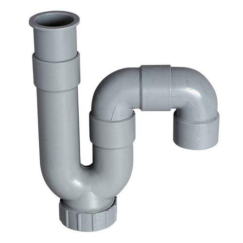 Siphon pour évier Wirquin PVC Ø32mm