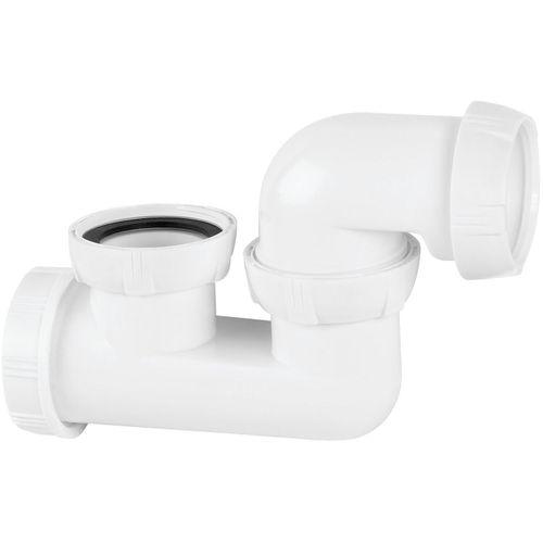 Siphon de baignoire orientable Wirquin Ø40mm blanc