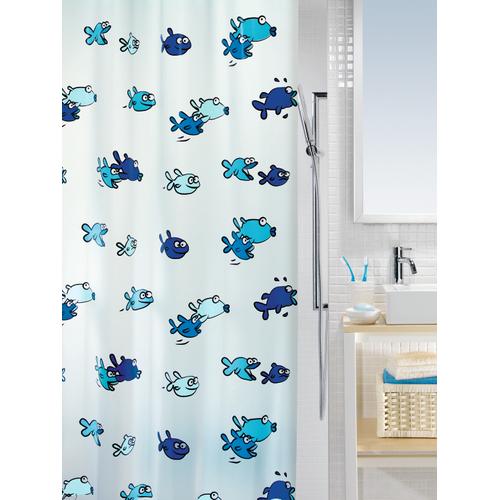Spirella douchegordijn Hugo blauw 180cm
