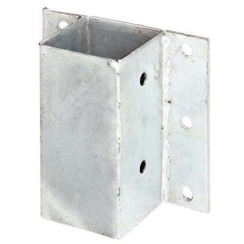 Ancre pour poteau acier galvanisé 71 x 71 mm