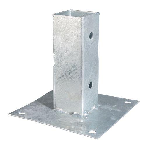 Ancre à visser pour poteau acier galvanisé 91 x 91 mm