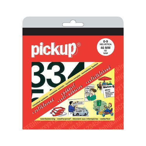 Pickup plakcijfers nul-negen zwart 40mm