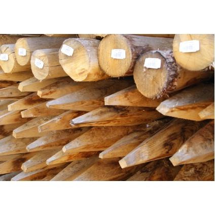 Kastanje paal diameter 8/10 x 180 cm