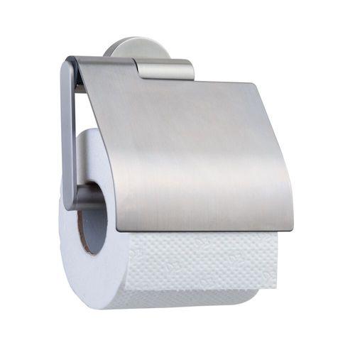 Tiger toiletrolhouder Boston met klep geborsteld