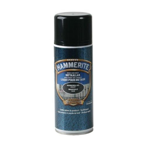 Spray laque métaux Hammerite martelé noir 400ml