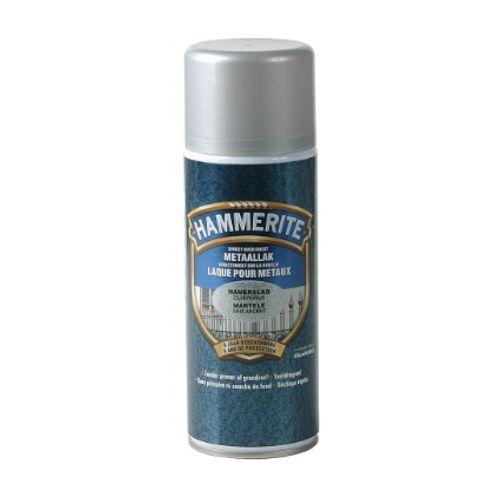Spray laque métaux Hammerite martelé gris argent 400ml