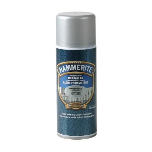 Hammerite hamerslaglak spray zilver grijs 400ml