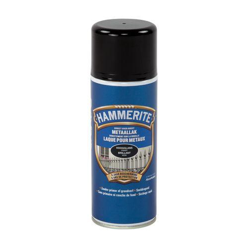 Spray laque métaux Hammerite brillant noir 400ml