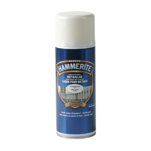 Spray laque métaux Hammerite brillant blanc 400ml