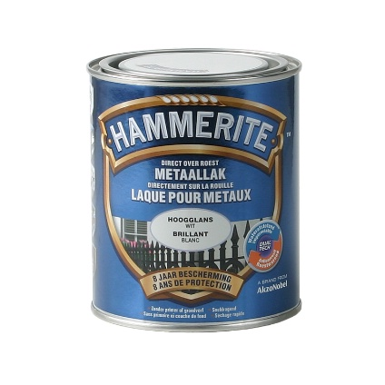 Laque métaux Hammerite brillant blanc 750ml
