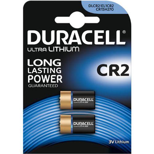 Pile ultra lithium Duracell 'CR2' 3 V - 2 pcs