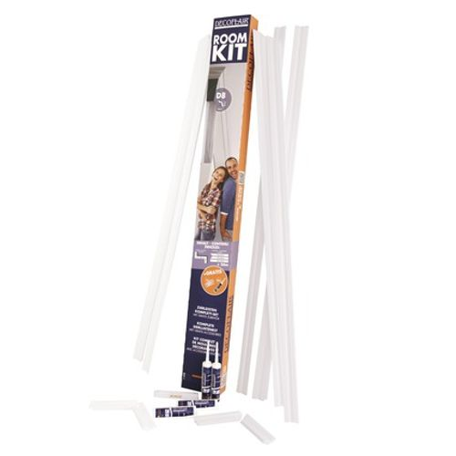 Decoflair sierlijsten kit en lijm 'Roomkit D8' 5 cm x 5 cm x 4 m