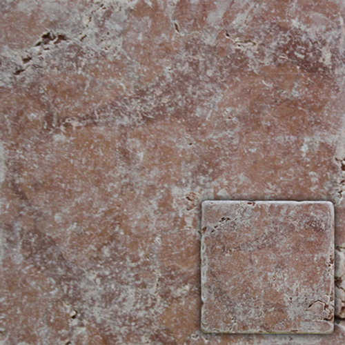Wand- en vloertegel Marmer antiek rosso verona 10x10cm