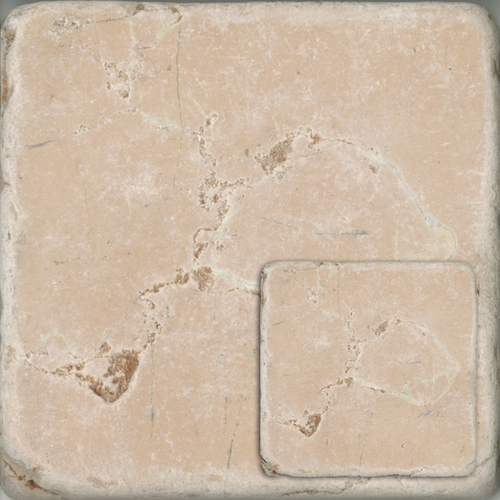 Wand- en vloertegel Natuursteen rosa perlino taupe 10x10cm